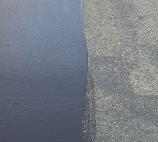 seal-coat-on-left-vs-old-pavement-on-right-reading